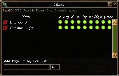 Silence - Squelch List