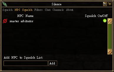 Silence - NPC Squelch List