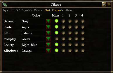 Silence - Chat Channel Options